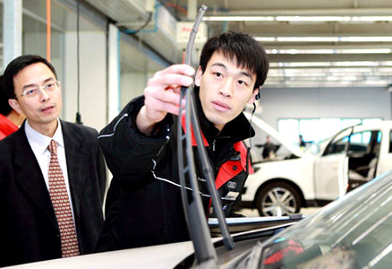 HGS coach during an assignement in car dealership in China